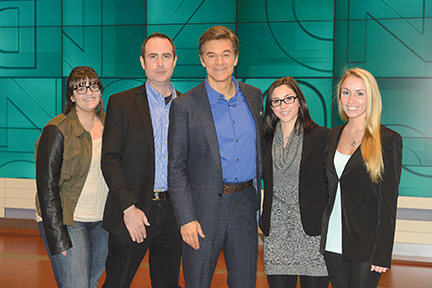"From left, Melissa Mendonca, Tim Sullivan, Dr. Mehmet Oz, Jenna Bauer and Stephanie Makowski all work together at ""The Dr. Oz Show."" Steve Pappas is not pictured. Photo by Barbara Nitke."
