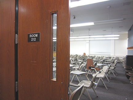 One of the classroom mentioned by arm i nitration leaders as a possible naming site. Photo by Freddie Morgan.