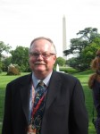 Herb Jackson stands on the South Lawn of the White House while serving in the press pool. (Photo provided by Herb Jackson)