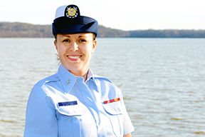 Lisa Ferdinando is a petty officer 3rd class in the Coast Guard Reserve. Photo provided by Lisa Ferdinando